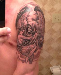 Drawn grim reaper grem Reaper reapers Female Tattoos of