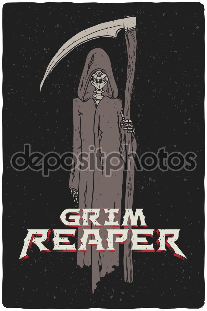 Drawn grim reaper grem Grim drawn Hand reaper #126507080
