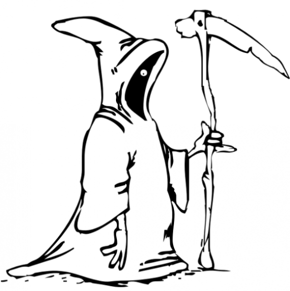 Drawn grim reaper halloween  Halloween To Coloring Pages