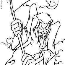 Drawn grim reaper halloween Hellokids coloring Halloween Reaper Grim
