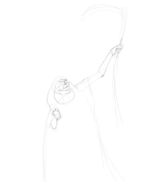 Drawn grim reaper hand sketch In the more Grim
