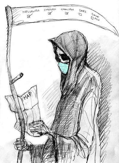Drawn grim reaper hand sketch » Sketchblog sketches No comments