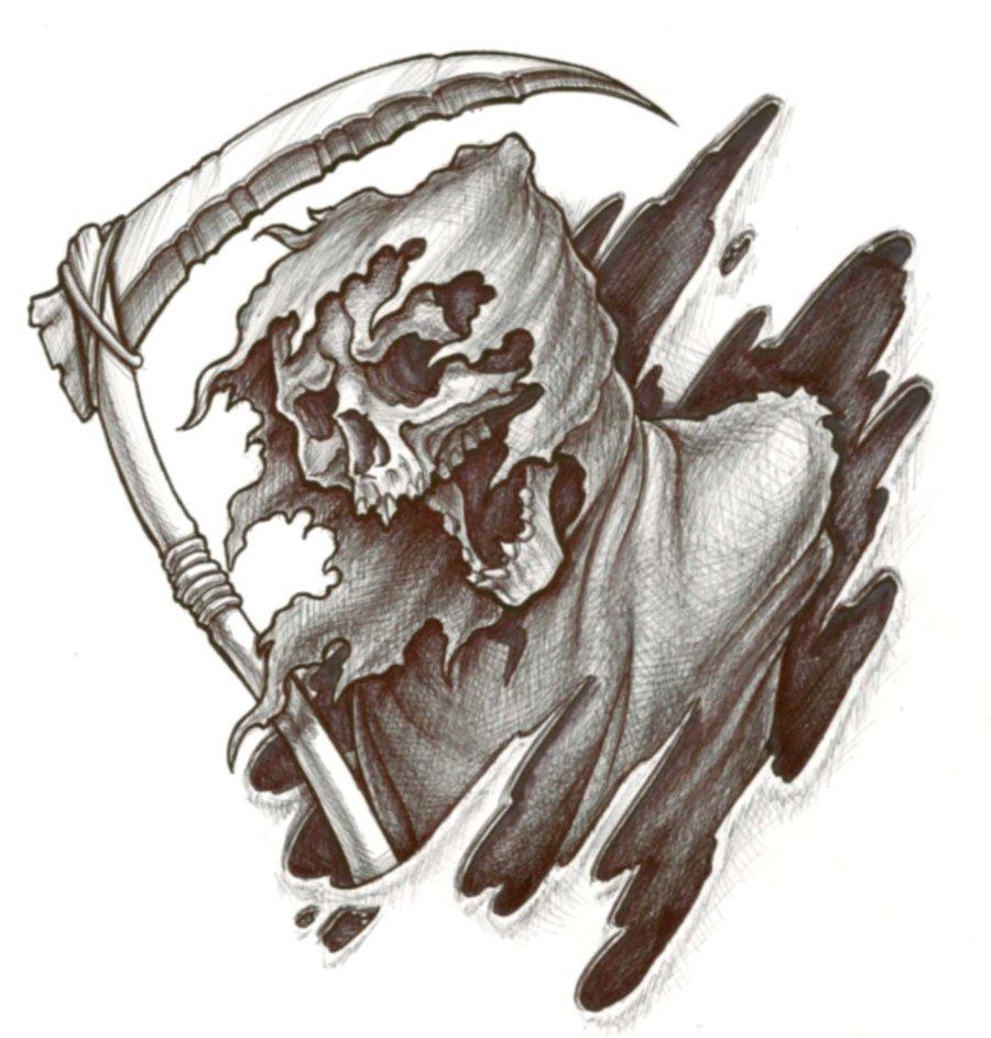 Drawn grim reaper hand sketch Phreek: reaper Grim Pinterest Reaper