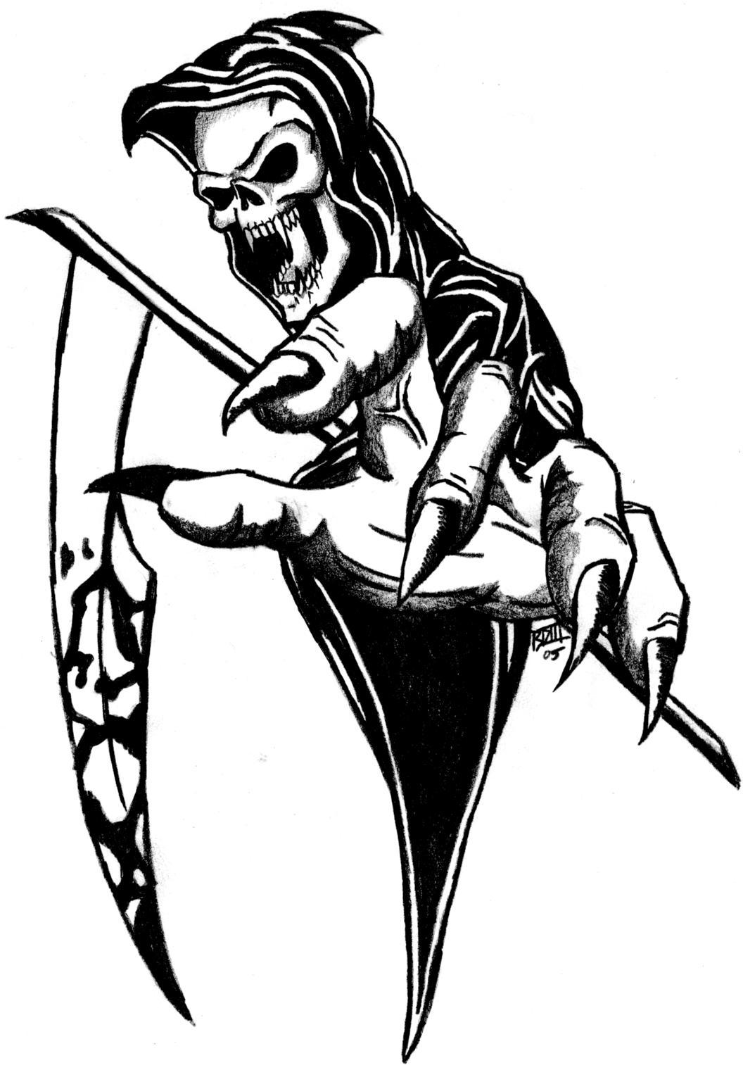 Drawn grim reaper hand sketch Grim Grim Reaper BD3illustrations by
