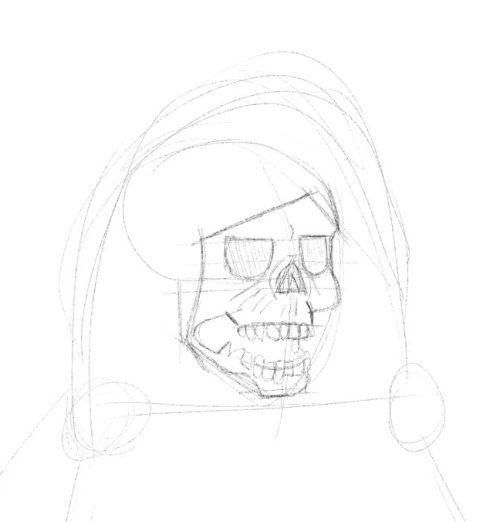 Drawn grim reaper hand sketch Hand our  on Drawings