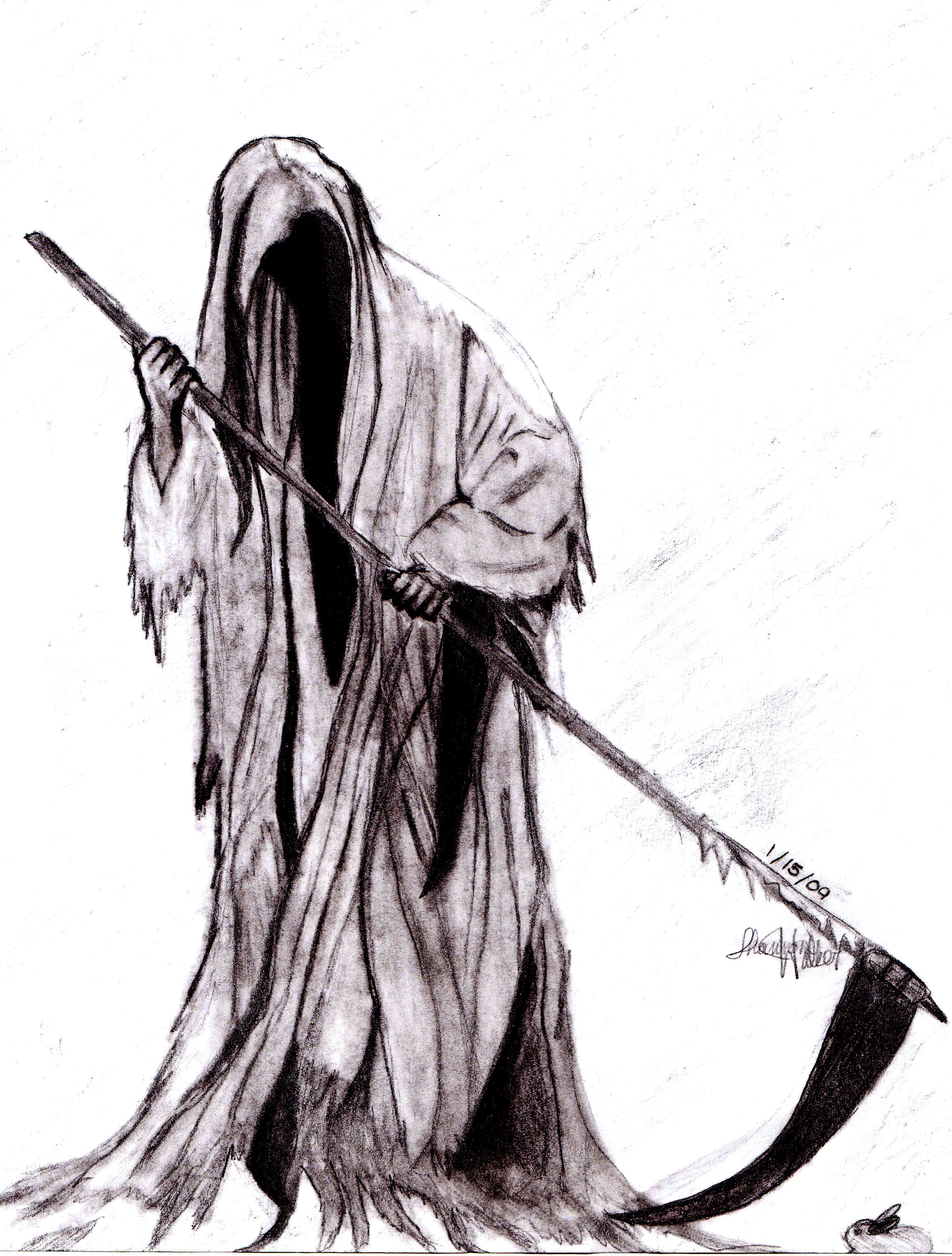 Drawn grim reaper hand sketch Death and Tatted Grim Sleeve