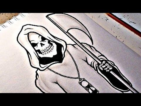 Drawn grim reaper hand sketch REAPER GRIM How Draw The