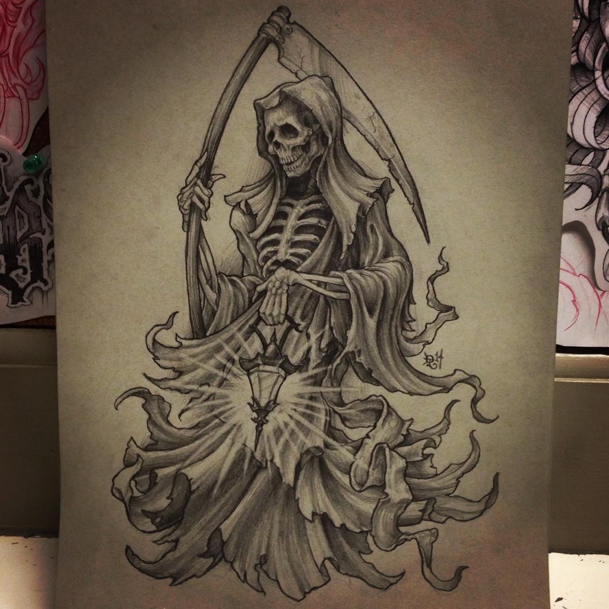 Drawn scythe wicked 9x12
