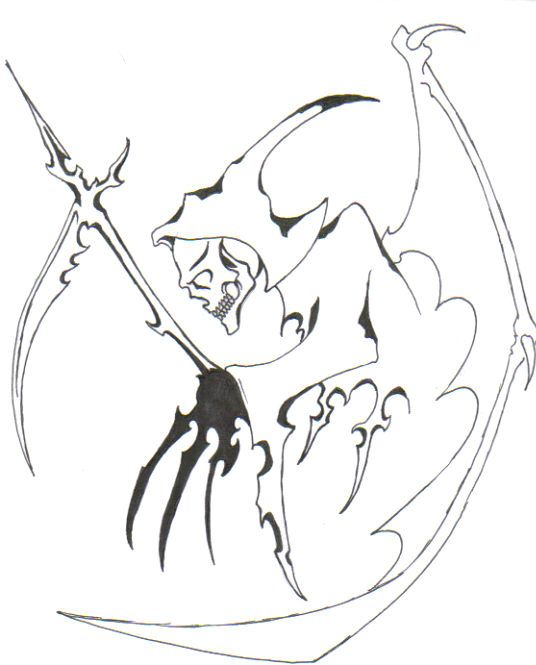 Drawn grim reaper outline Best Grim reaper Grim reaper
