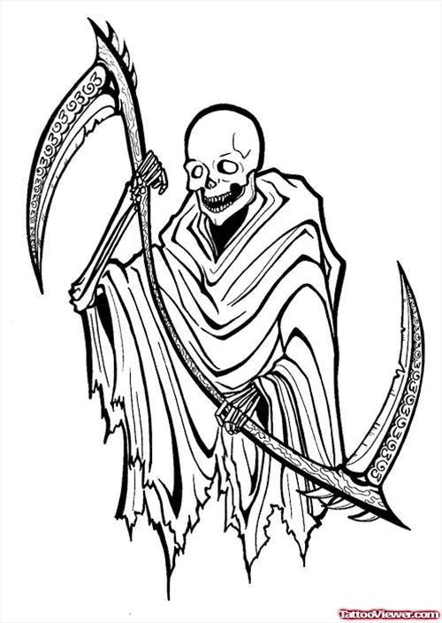 Drawn grim reaper outline Design Related com Viewer Grim