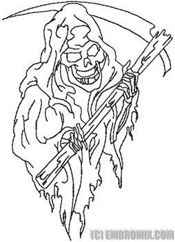 Drawn grim reaper outline Reaper Outline Death Design Outline