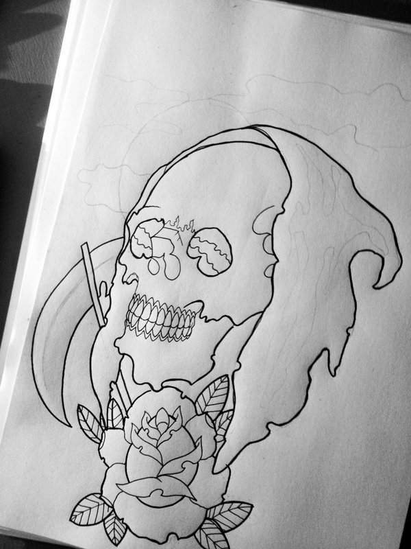 Drawn grim reaper outline Work Reaper Grim by Outlines