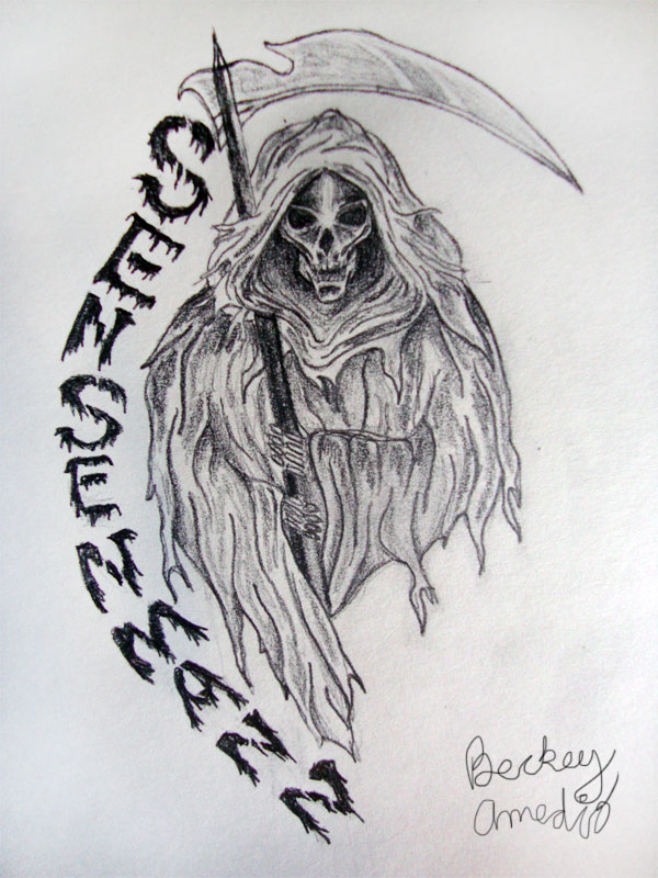 Drawn grim reaper outline  Reaper Grim by Design