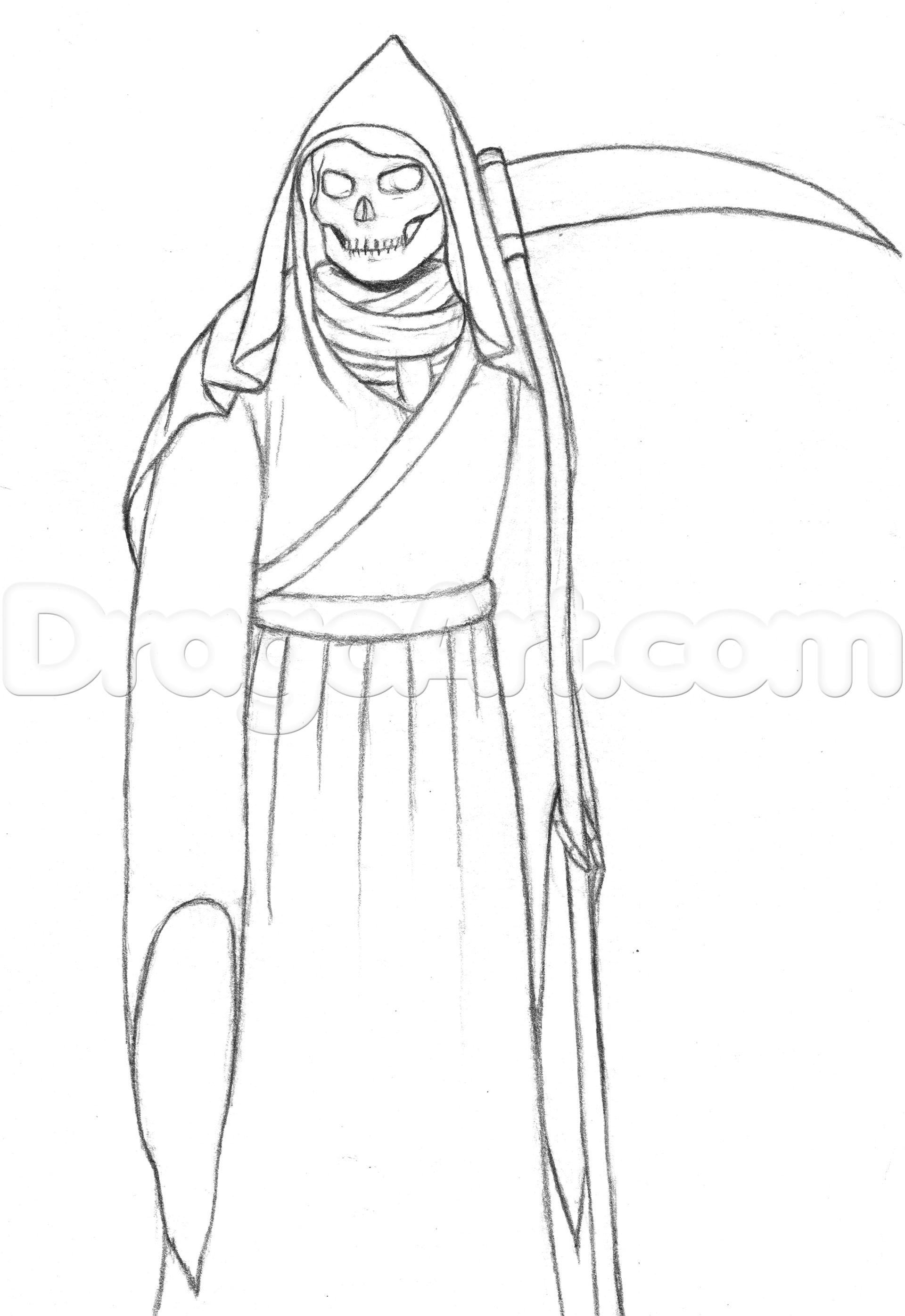 Drawn grim reaper robe To reaper the how 3
