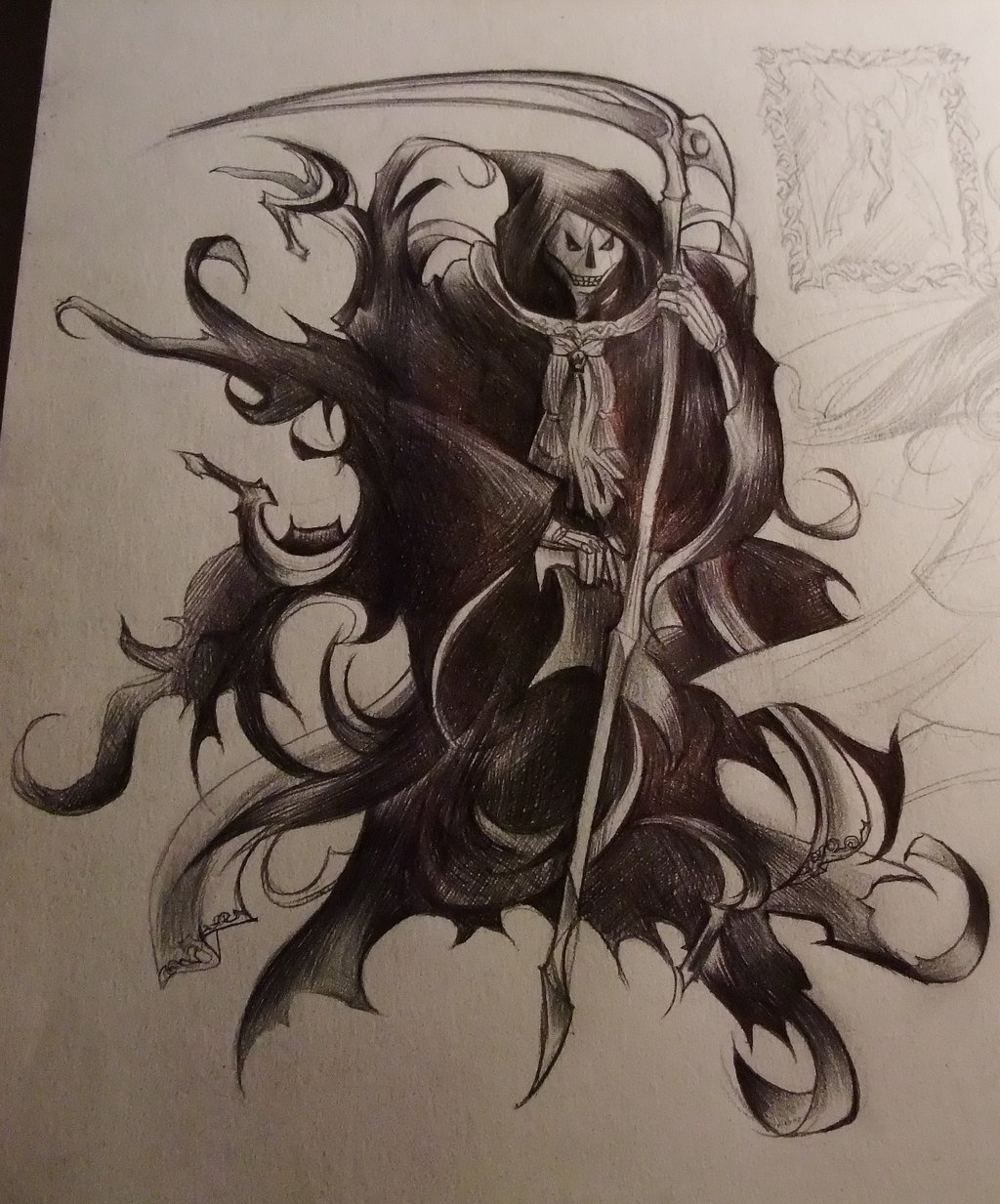 Drawn grim reaper robe Lydween The DeviantArt The Reaper