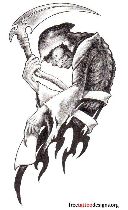 Drawn grim reaper sad Tattoo Reaper tattoo design Grim