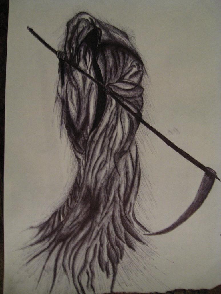 Drawn grim reaper sad DeviantArt by Grim Grim Ghostly