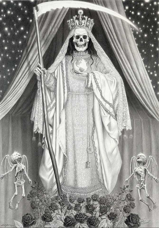 Drawn grim reaper santa muerte Muerte 25+ by on Lipton