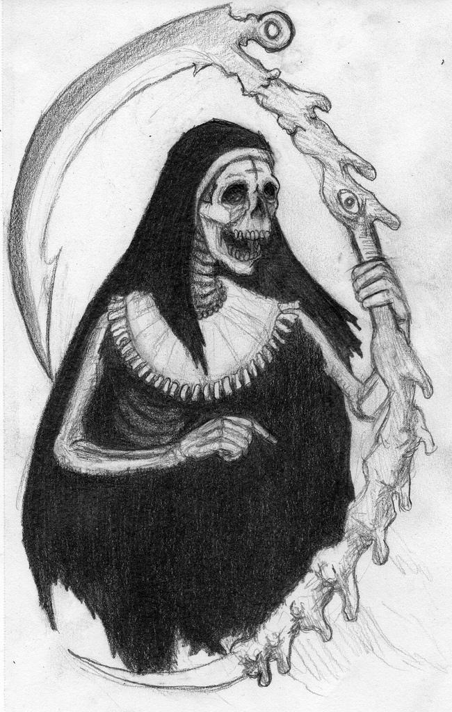 Drawn grim reaper santa muerte La on Santa Flickr 2013