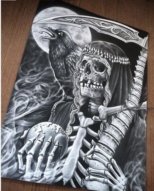 Drawn grim reaper santa muerte Muerte images by on 132
