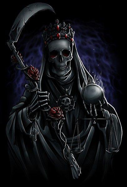 Drawn grim reaper santa muerte MUERTE Grim by by Balderrama