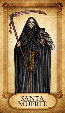 Drawn grim reaper santa muerte Santa Google muerte about Cerca