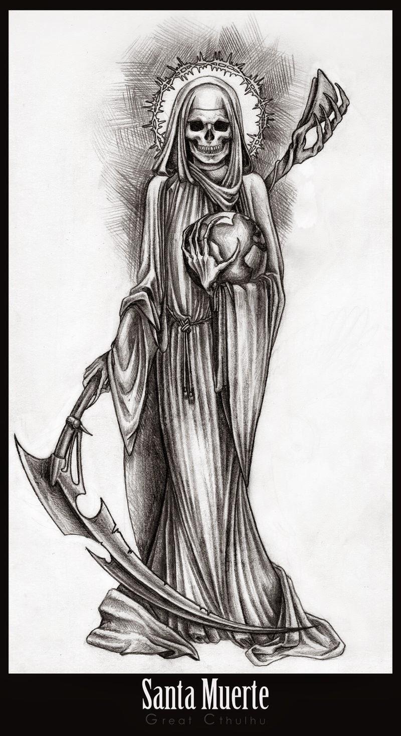 Drawn grim reaper santa muerte Oraciones: muerte Oracion o (Dominar