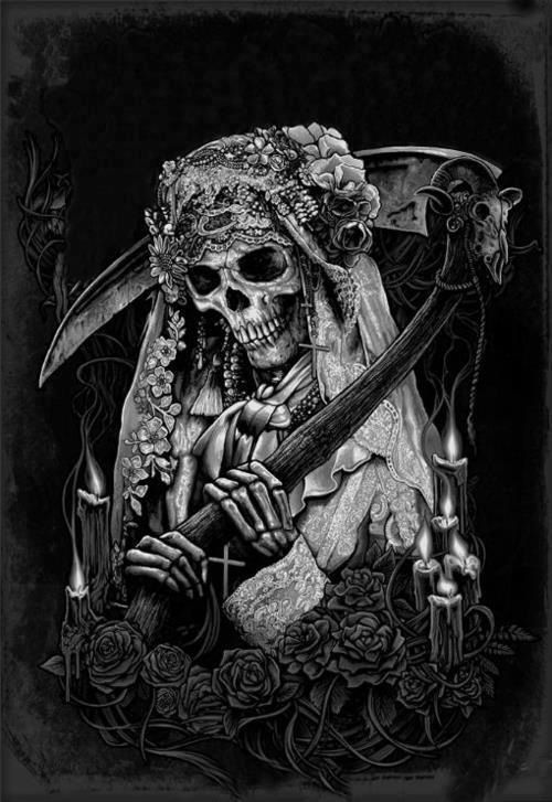 Drawn grim reaper santa muerte Morte muerte Mais 25+ Santa