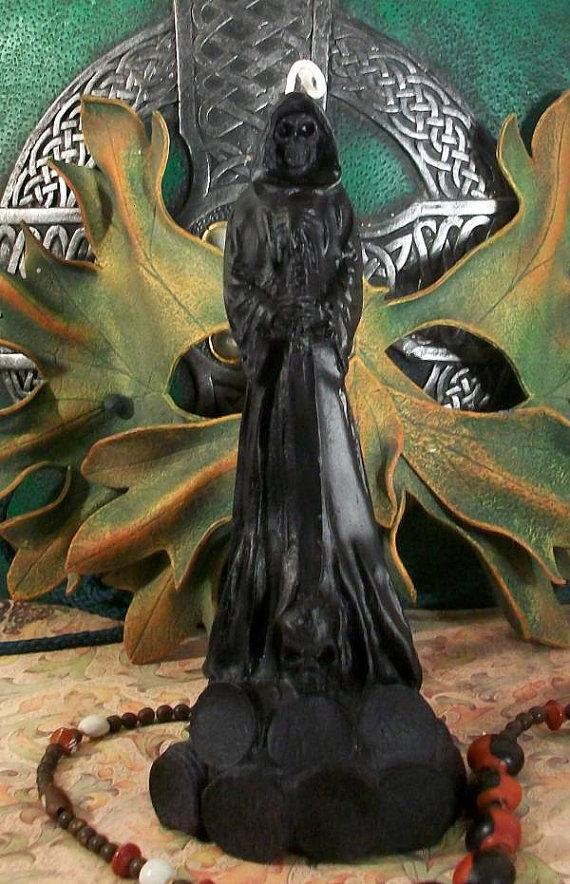 Drawn grim reaper santa muerte Muerte Black Lady Lady Grim