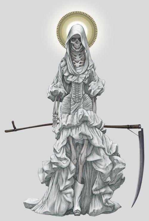 Drawn grim reaper santa muerte Inspiration 25+ Holy on ReaperDeath