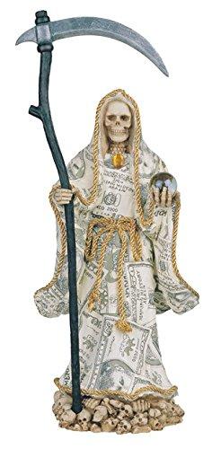 Drawn grim reaper santa muerte Inch La Money Grim Statue