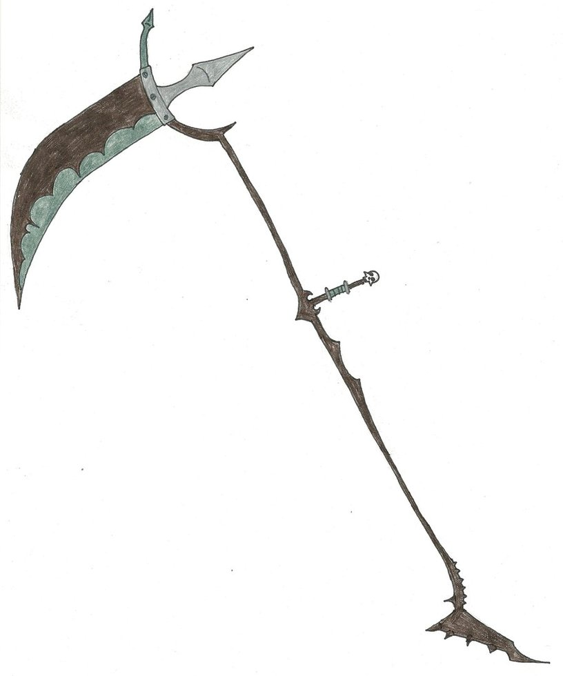 Drawn grim reaper scythe DragnBoi65 by by Reaper's The