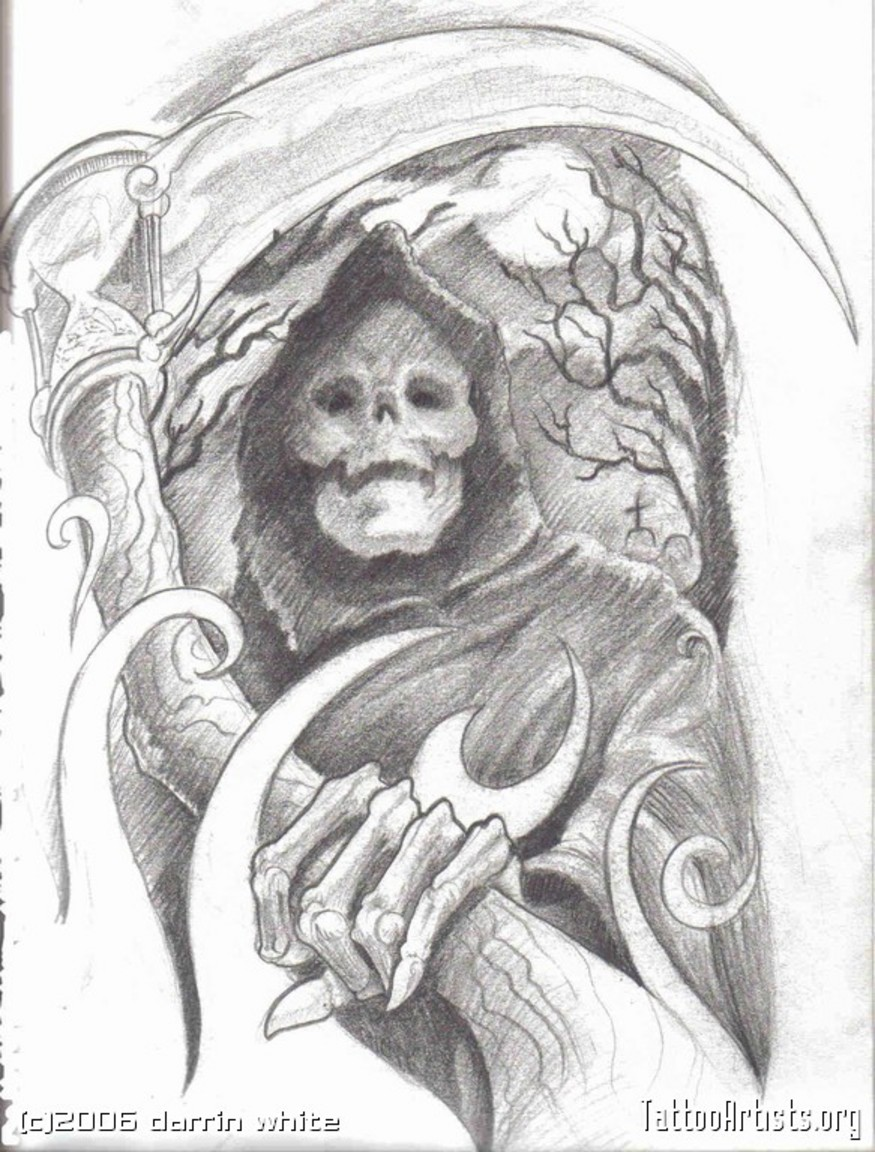 Drawn grim reaper skeleton Grim A With A photo