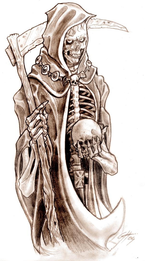 Drawn grim reaper skeleton Reaper Design by ~TheMacRat Reaper