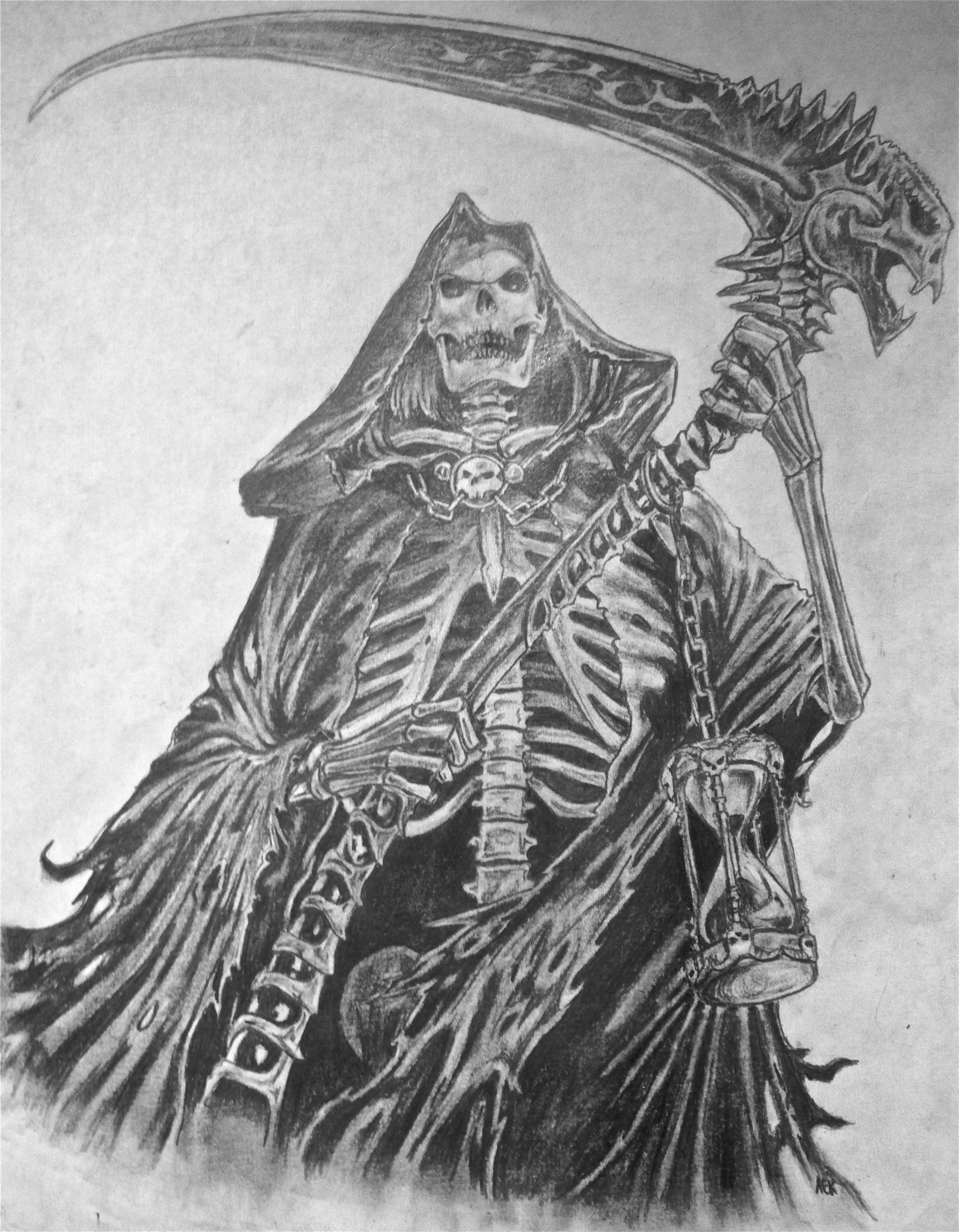 Drawn grim reaper skeleton Skeleton Teen Art/Photo Ink Teen