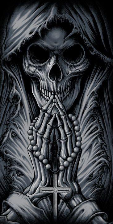 Drawn grim reaper skeleton Black reaper Totenkopf Knochen best