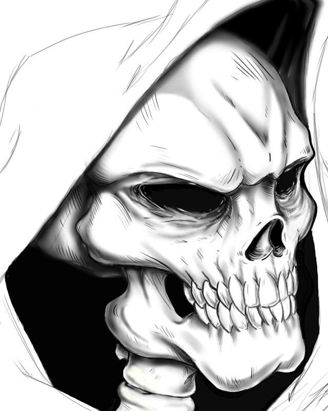 Drawn grim reaper skull By Reaper by DraegusFalls Grim