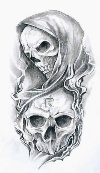 Drawn grim reaper skull Tattoo Reaper tattoo Best Skull