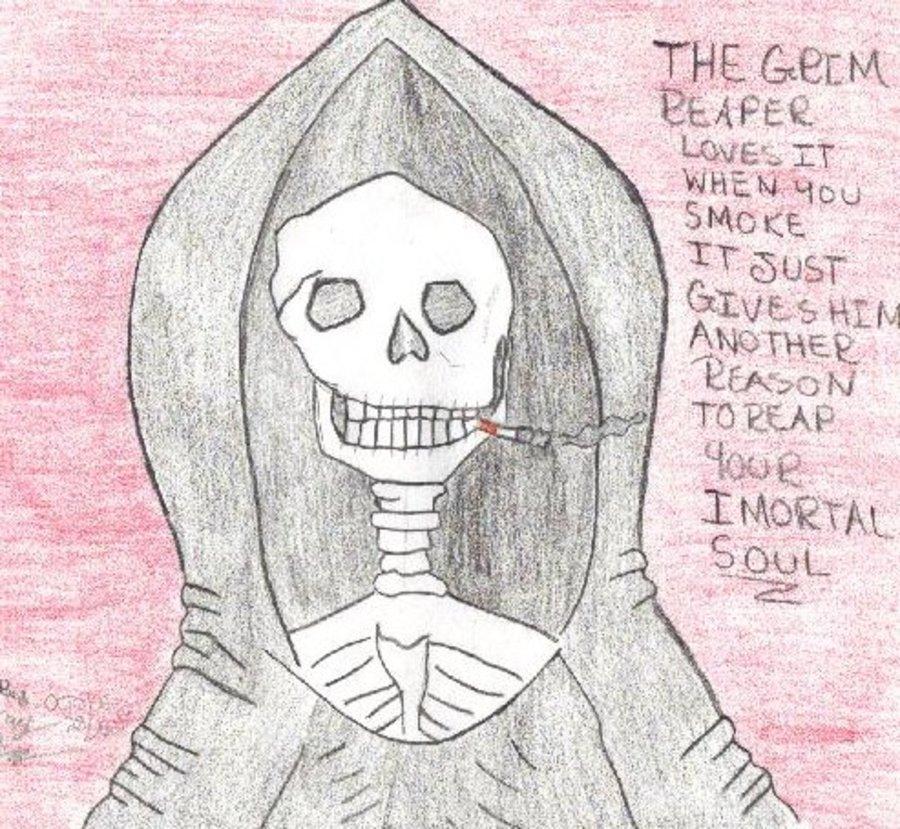 Drawn grim reaper smoke Reaper smoke Jhonenlover777 saids The
