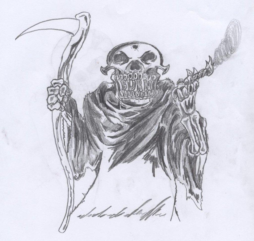 Drawn grim reaper smoke Mew2pwner95 mew2pwner95 Reaper Grim Grim