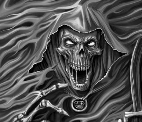 Drawn grim reaper smoke Freelance grim Archives Illustration Mafia