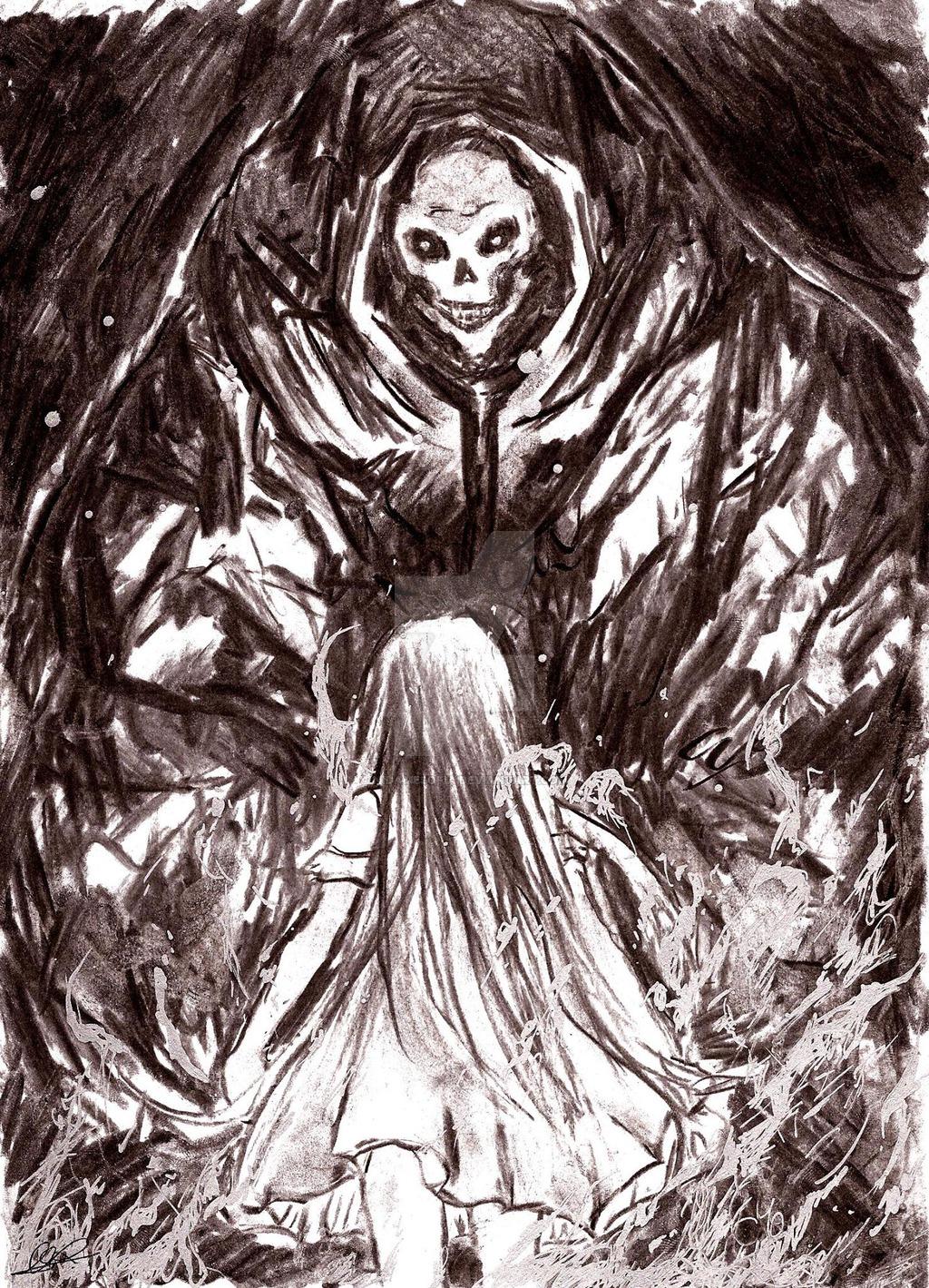 Drawn grim reaper sword DeviantArt vs Yui on Reaper