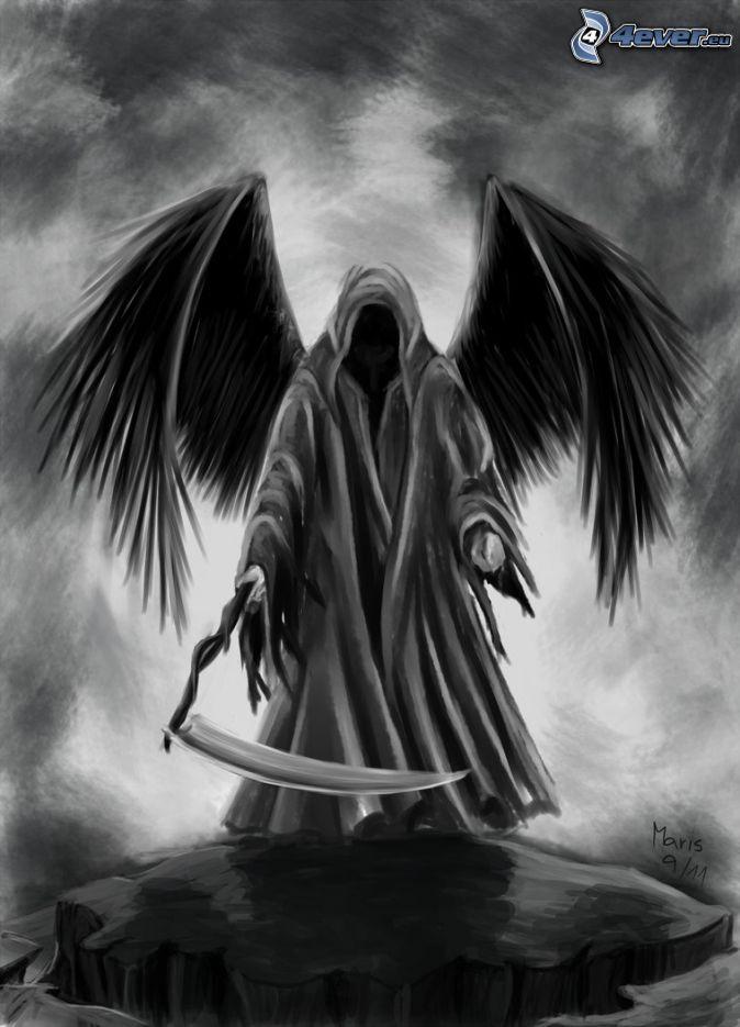 Drawn grim reaper sword Tattoo grim colors Reaper incorporate