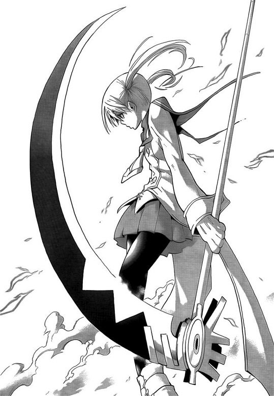 Drawn scythe badass Wear manga? and deadliness also