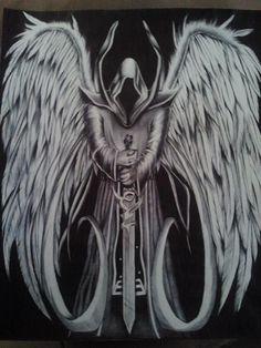 Drawn grim reaper sword  Drawing of over Reaper