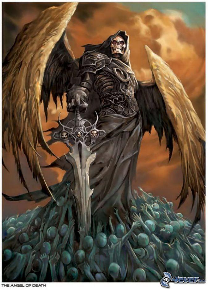 Drawn grim reaper sword Of on 142 best Angel