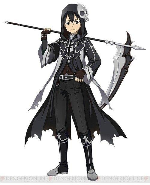 Drawn grim reaper sword Halloween Sword Gothic Kirito Online