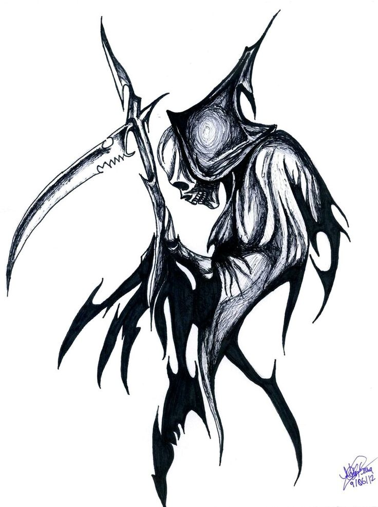 Drawn grim reaper tribal Pinterest images Angle 64 Reaper