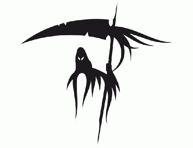 Drawn grim reaper tribal Clipart grim Tribal clipart #24203