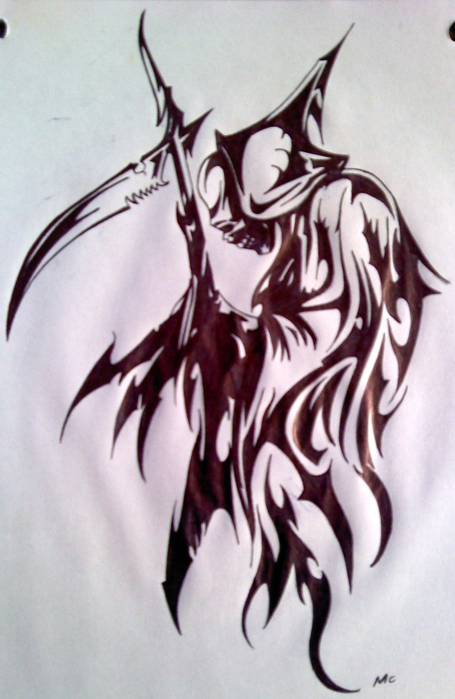 Drawn grim reaper tribal DeviantArt by Reaper Grim Tribal